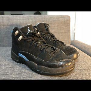 Nike Air Jordan 2009 Black Nubuck 12 XII Size 7